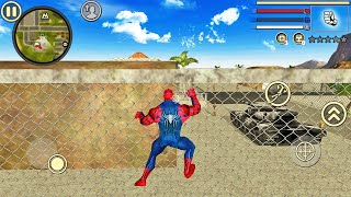 Spider Rope Hero Vice Town #3 Fun at Military Base - Android Gameplay