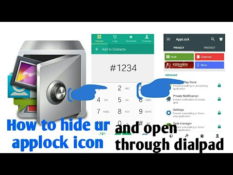 How to hide you're applock icon and open it on dial pad