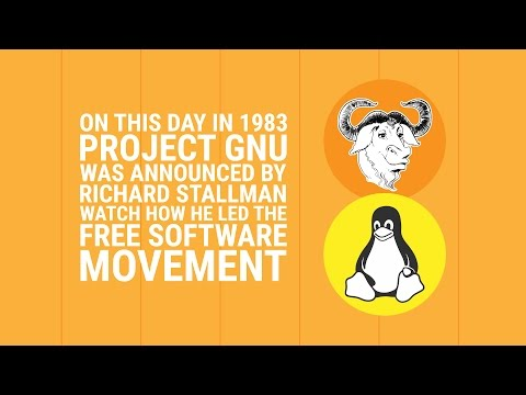 GNU project- the free software movement turns 33