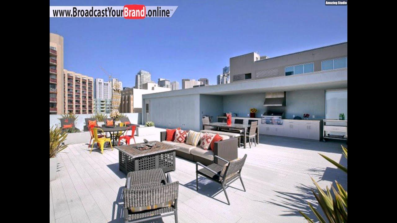 penthouse loft mit dachterrasse au enk che grill feuerstelle x youtube. Black Bedroom Furniture Sets. Home Design Ideas