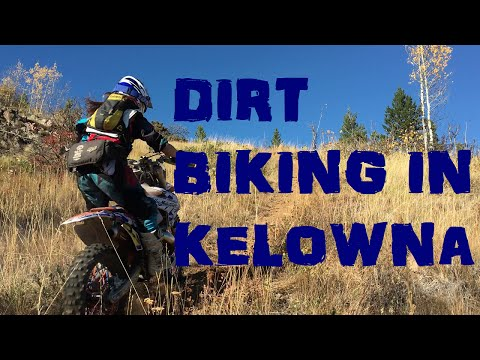 Dirtbiking in Kelowna, B.C, at Bear Creek.  DIFFICULT TRAIL