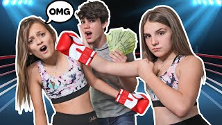 LAST TO LEAVE THE BOXING RING wins $10,000 CHALLENGE w:Piper Rockelle & Sophie Fergi