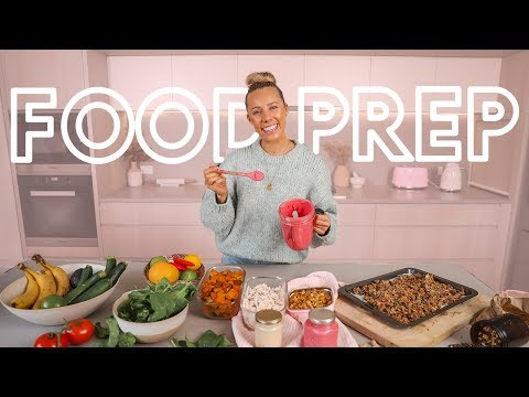 THE BEST Healthy Food Prep!! Protein Granola, Healthy Carbs, Snacks & MORE!