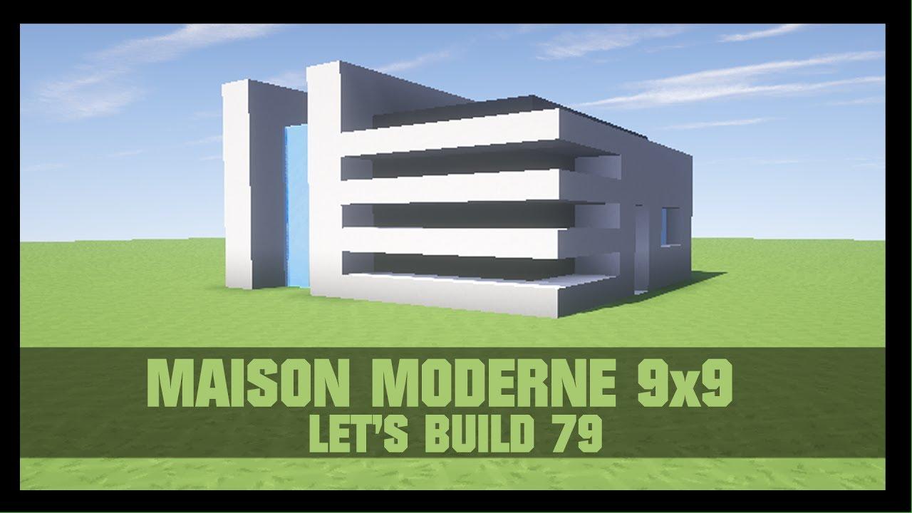 Tuto comment construire une maison moderne 9x9 dans for Maison moderne dans minecraft