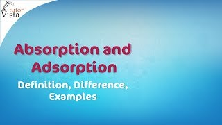 Absorption and Adsorption - Definition, Difference, Examples