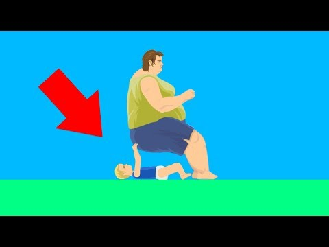 WORLD'S WORST BABYSITTER! (Happy Wheels #107)