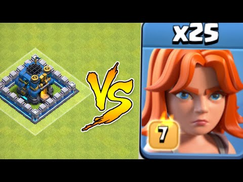 LEVEL 7 VALKYRIES IN ACTION || CLASH OF CLANS ||