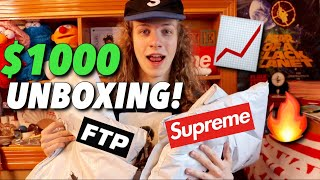 Unboxing $1000+ of Supreme & FTP! (Supreme TNF, FTP Bear)