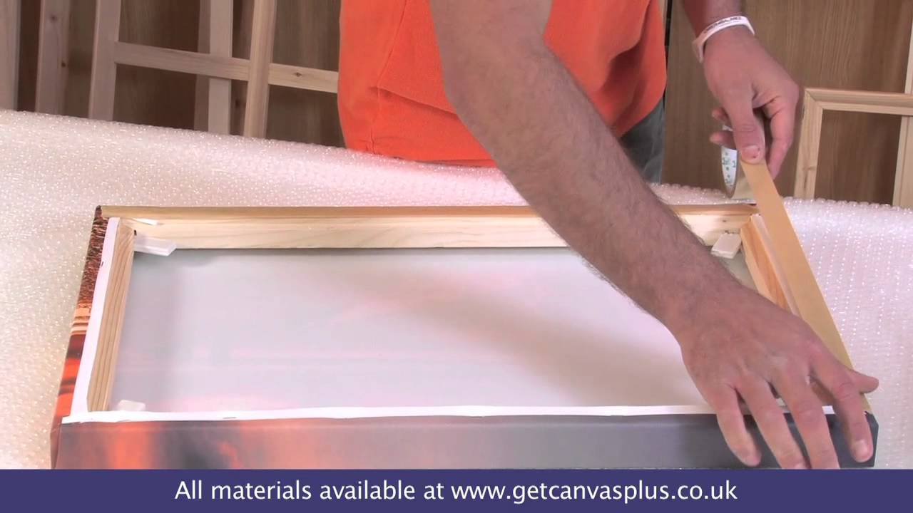 Using Canvas Backing Tape with Framing Tape - YouTube