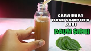 Hand sanitizer alami dari daun sirih ...
