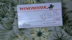 Winchester whiteBox 45ACP $39 97 Walmart OVERVIEW
