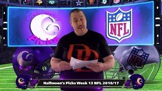 NFL Picks 2016-2017 Week 13 Against The Spread