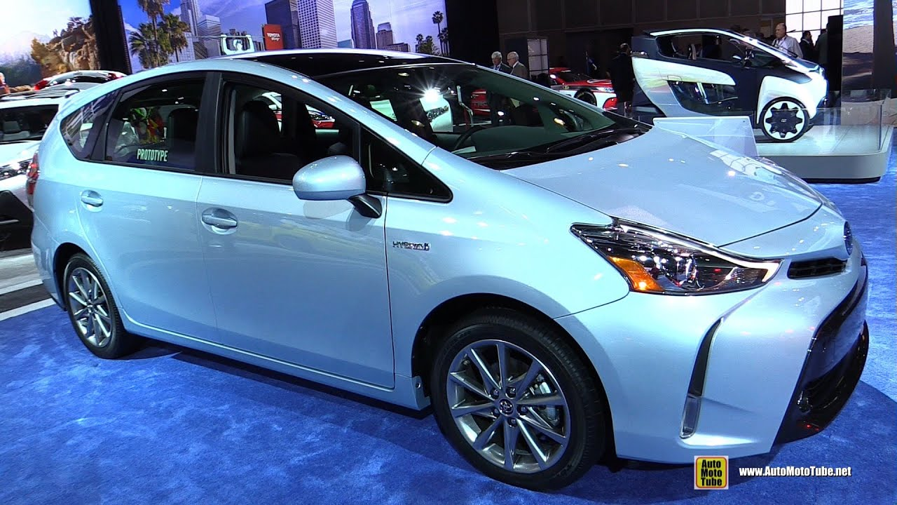 2015 toyota prius v five exterior and interior walkaround debut at 2014 la auto show youtube. Black Bedroom Furniture Sets. Home Design Ideas
