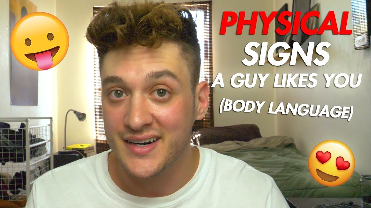 physical signs a guy is attracted to you