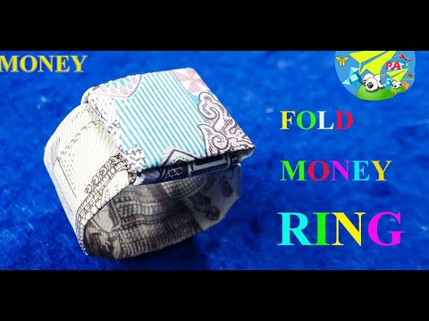 Money Origami Hướng dẫn gấp nhẫn bằng tiền giấy