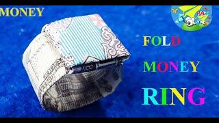 Money Origami|Hướng dẫn gấp nhẫn bằng tiền giấy