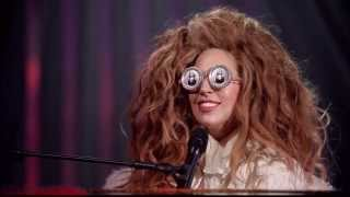 Elton John And Lady Gaga Benny And The Jets Live Lady Gaga The Muppets