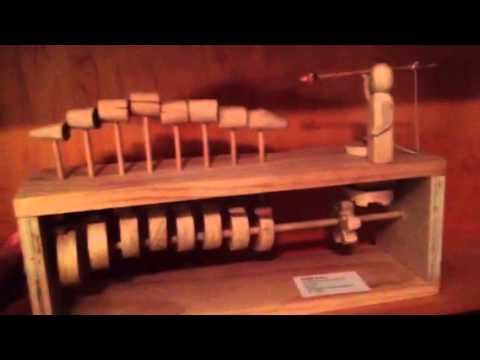 Mechanical wooden toy