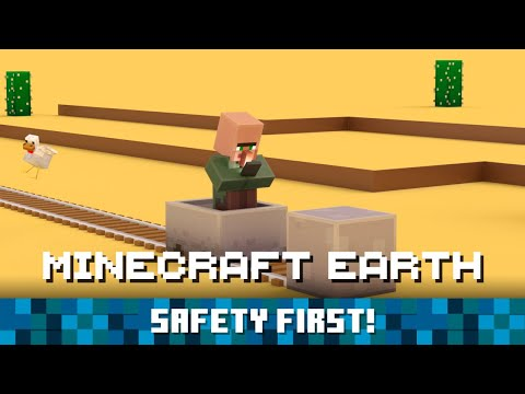 Minecraft Earth Early Access kicks off with cute safety PSA