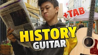 88rising & Rich Brian – History (fingerstyle guitar cover, guitar tabs, chords)