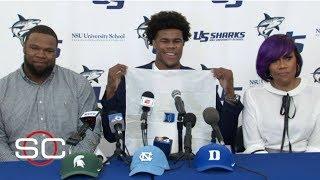 No. 3 recruit Vernon Carey Jr. chooses Duke over UNC and Michigan State | SportsCenter