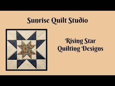 Rising Star Block Quilting Designs