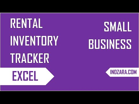 How to track inventory of rented Items  - Rental Inventory Tracker - Excel Template