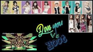 I Love You vs. Hoot (Mashup) 2NE1 feat. SNSD