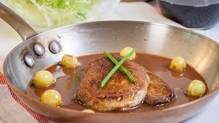 Pan-Seared Foie Gras Port Wine Sauce