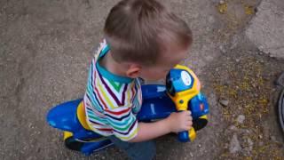 Детский мотоцикл-беговел. Обзор и тестдрайв. Police Motobyke for KIDS