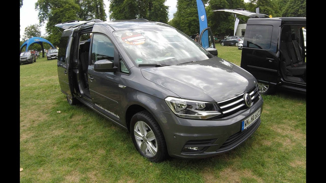 volkswagen vw caddy 4 maxi comfortline indium grey model 2017 walkaround interior. Black Bedroom Furniture Sets. Home Design Ideas