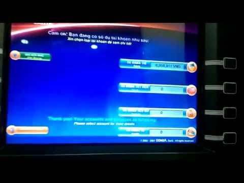 Cách Cho Tiền Vào Tài Khoản Đông Á ở Cây ATM
