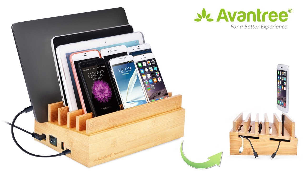10 Ports Multi Device Charging Station For Phones And Tablets Avantree Plant