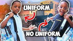Siah's 1st Day Of School New Uniform Policy (He Cried😢)