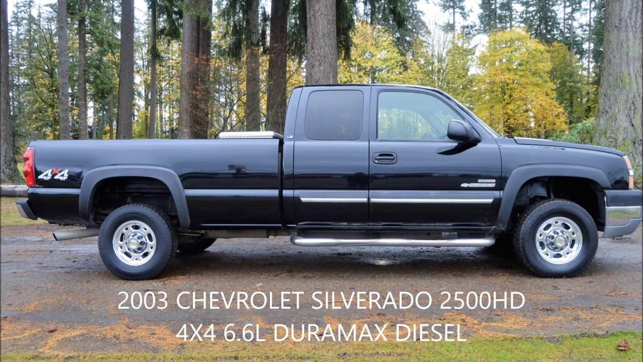 All Chevy 2003 chevy 2500hd : 2003 CHEVROLET SILVERADO 2500HD LS 6.6L DURAMAX 4X4 1 OWNER - YouTube