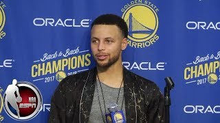 Steph Curry says if ring ceremony ever gets to a 'blah moment' slap him in the face | NBA Sound