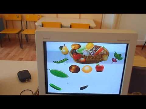 интерактивная игра Собрать овощи в корзину