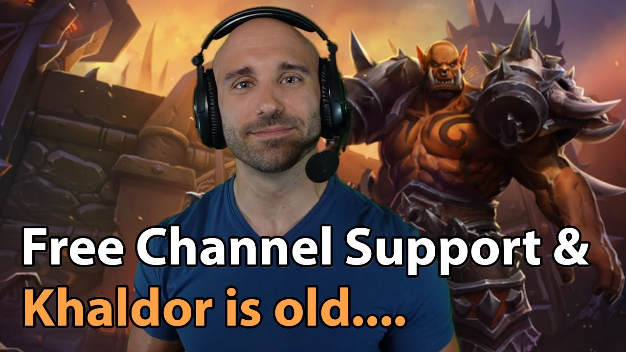 Khaldor officially old, free channel support & tournament news!