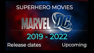 Upcoming SUPERHERO MOVIES DC and Marvel 2018 to 2020 Release Dates| Check new video in description thumbnail