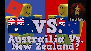 Australia Vs. New Zealand? | Roblox Rise of Nations