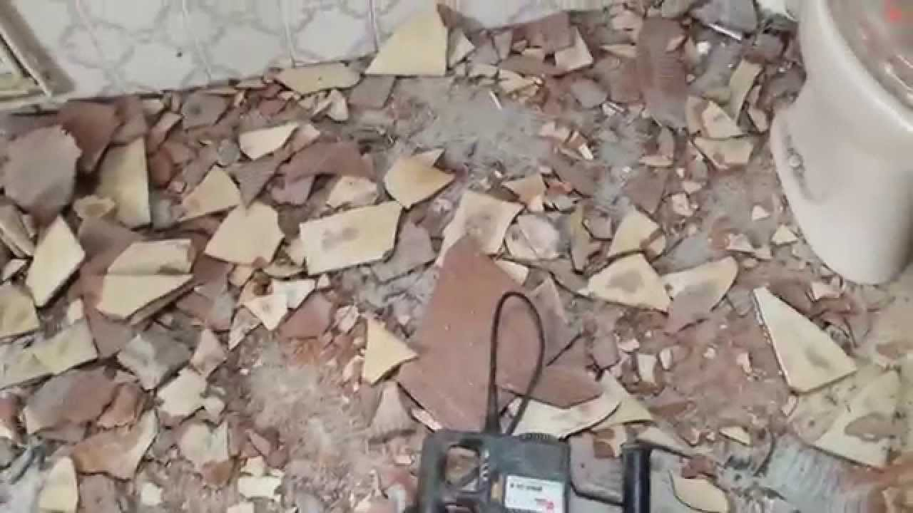 Einfach Fliesen Entfernen Mit Dem Bohrhammer Eine Anleitung YouTube - Fliesen in speis entfernen