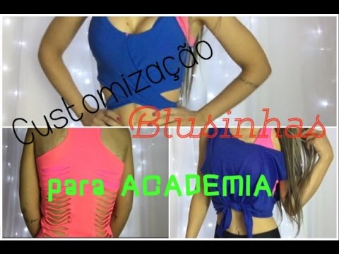 DIY 3 formas de customizar camisetas para ACADEMIA - YouTube 793e7b650bf