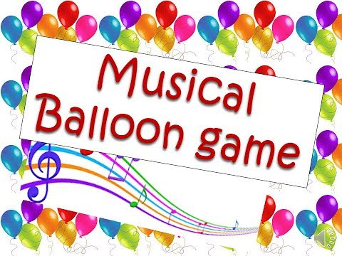 Musical balloon kids birthday party and club event (fun game)