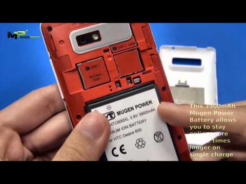 HTC Desire 600 3900mAh Mugen Power Extended Battery [HLI-HTC600XL]