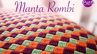 Repeat youtube video Tutorial Manta Rombi. Entrelac a crochet o ganchillo