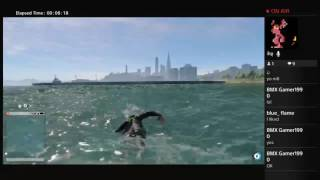 Watch Dogs 2: swimming to San Francisco!