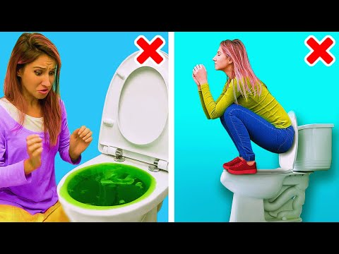 35 SMART BATHROOM TIPS YOU DIDN'T KNOW BEFORE || 5-Minute De