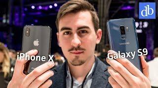 GALAXY S9 PLUS vs IPHONE X: primo confronto da MWC 2018 • Ridble