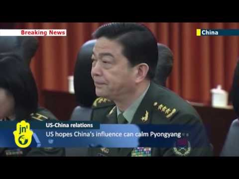 US Joint Chiefs of Staff Chairman Martin Dempsey meets Chinese president