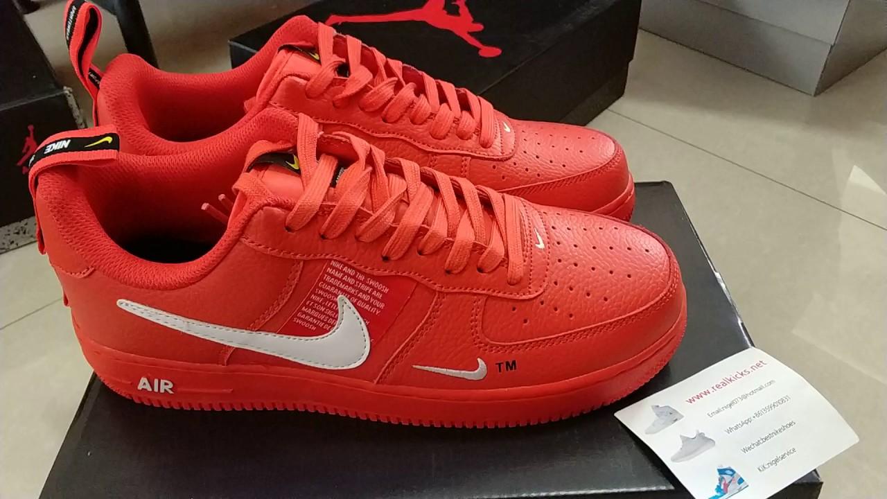 Nike Air Force 1'07 Lv8 Utility Red AJ7747 600